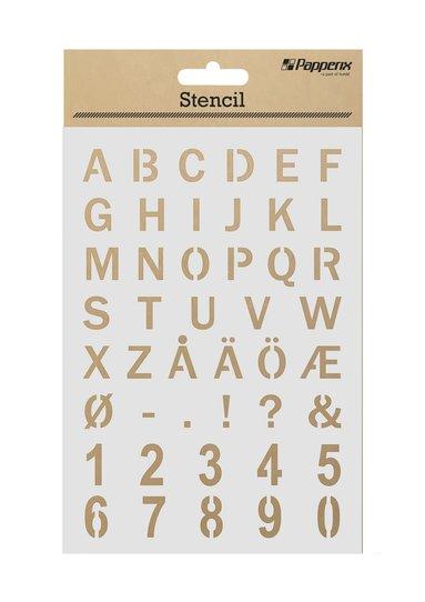 Schabloner alfabet & siffror 1