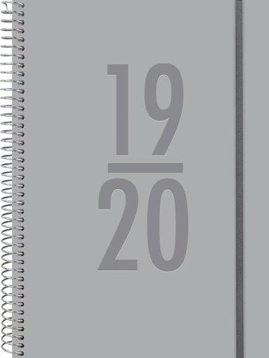 Kalender 2019-2020 A5 Study Velvet grå 1