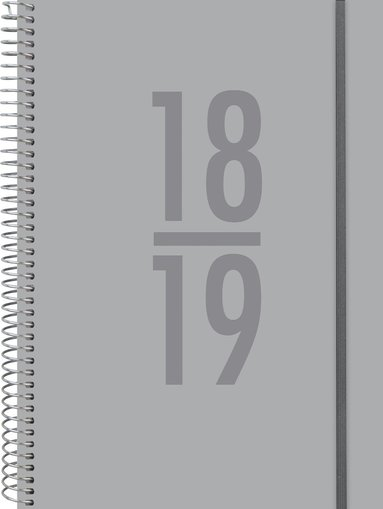 Kalender 18-19 A5 Study Velvet grå