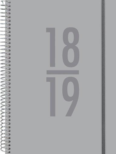 Kalender 18-19 A6 Senator Velvet grå 1