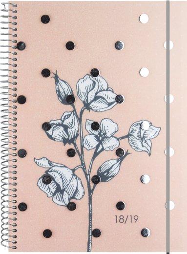 Kalender 18-19 A5 Study Multi blomma 1