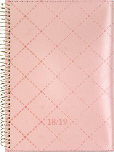 Kalender 18-19 A5 Study Twist rosa 1