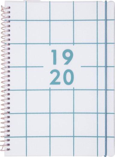 Kalender 2019-2020 Week Fantasy blå