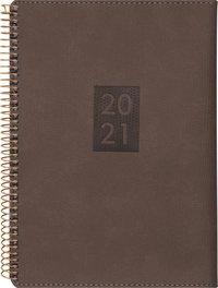 Kalender 2020-2021 Study A5 Twist brun