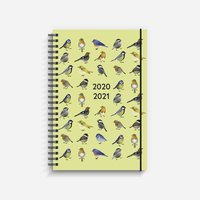 Kalender 2020-2021 Study A5 fåglar gul