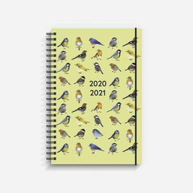 Kalender 2020-2021 Study A5 fåglar gul 1