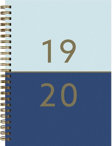 Kalender 2019-2020 Study A5 Duo blå 1