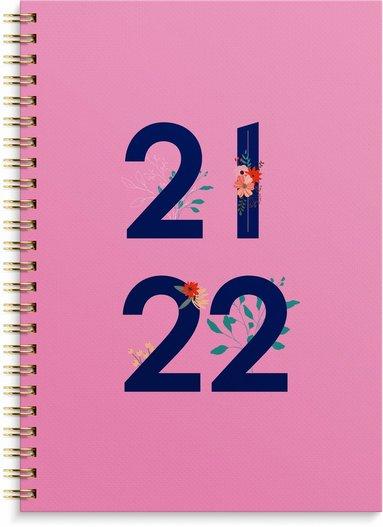 Kalender 2021-2022 Senator A5 Grafisk rosa