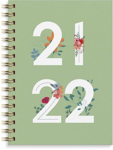 Kalender 2021-2022 Senator A6 Grafisk grön