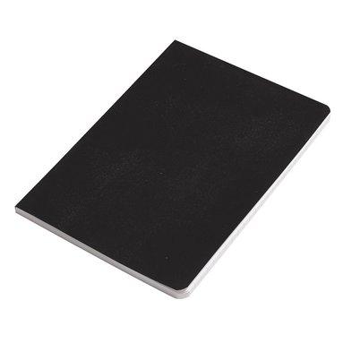 Anteckningsbok A6 linjerad vaxduk svart