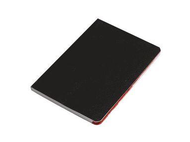 Anteckningsbok A6 vaxduk med register svart