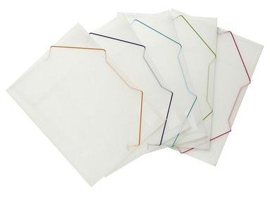 Gummibandsmapp A4 plast transparent med färgad snodd