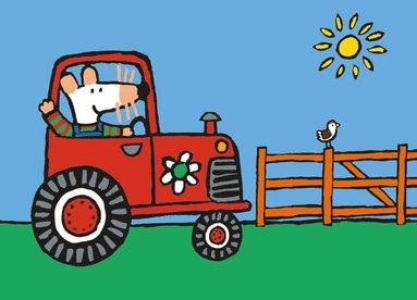 Kort Molly kör traktor