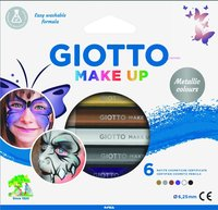 Ansiktsfärgpennor Giotto Make Up Metallic Colours 6 färger