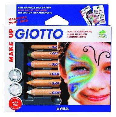 Ansiktsfärgpennor Giotto standard 6 färger