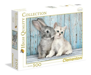 Pussel 500 bitar High Quality Collection : Cat & Bunny