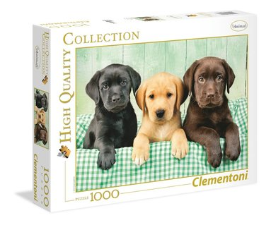 Pussel 1000 bitar High Quality Collection : Three labs