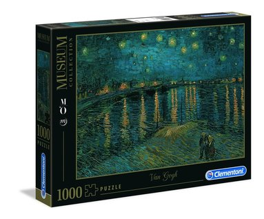 Pussel 1000 bitar Museum Collection : Van Gogh - Starry Night Over the Rhone 1