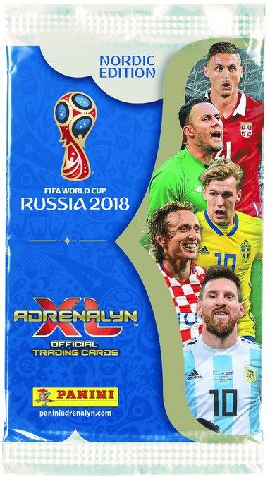 Samlarkort Fotbolls-VM 2018 booster