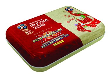 Samlarkort Fotbolls-VM 2018 plåtask