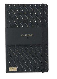 Anteckningsbok Castelli Large linjerad - Honeycomb svart & guld