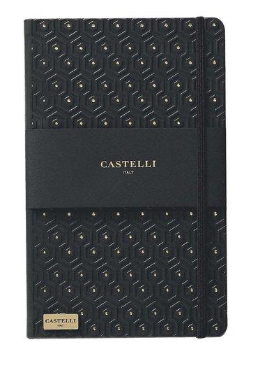 Anteckningsbok Castelli Large linjerad - Honeycomb svart & guld 1