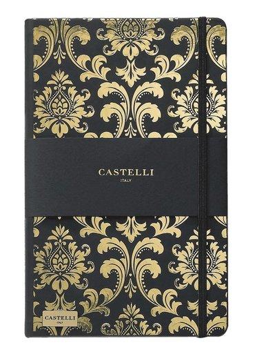 Anteckningsbok Castelli Large linjerad - Baroque svart & guld 1
