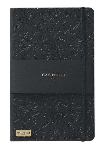 Anteckningsbok Castelli Large linjerad - Baroque svart 1