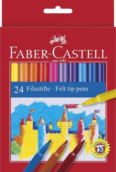 Fiberspetspenna Faber-Castell 24-pack