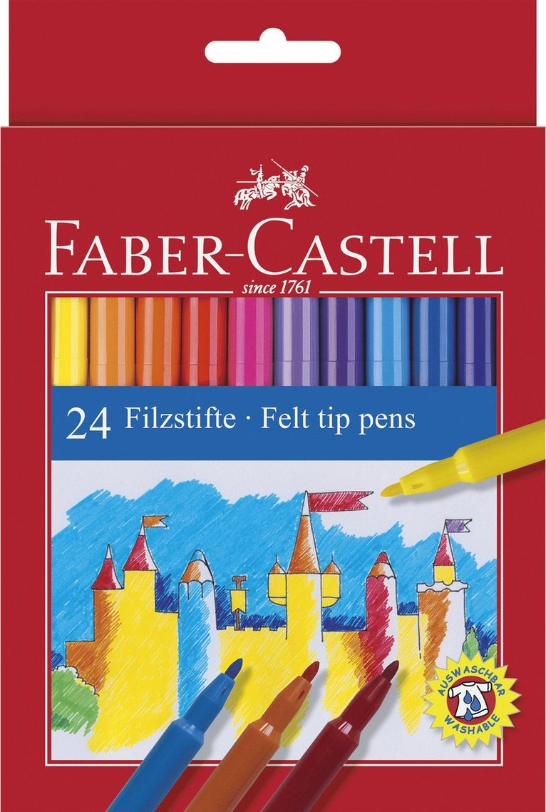 Fiberspetspenna Faber-Castell 24 färger 1