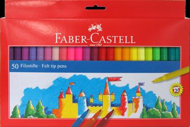 Fiberspetspenna Faber-Castell 50-pack