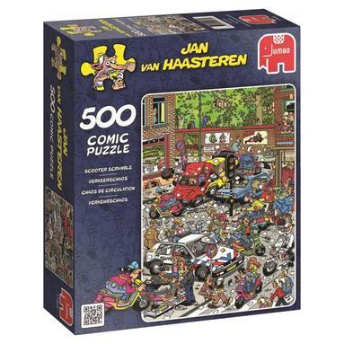 Pussel 500 bitar Jan van Haasteren - Scooter scramble 1