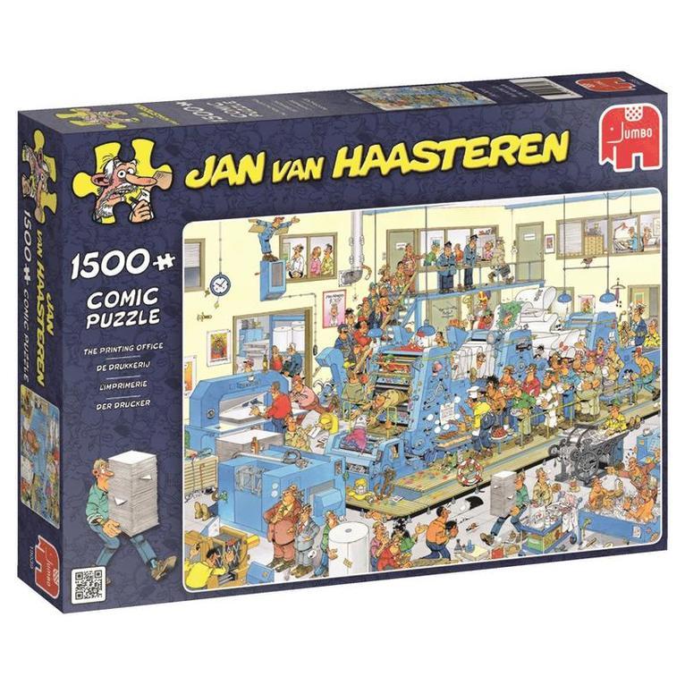 Pussel 1500 bitar Jan van Haasteren - The printing office 1