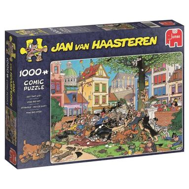Pussel 1000 bitar Jan van Haasteren - Get that cat