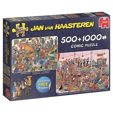 Pussel 500+1000 bitar Jan van Haasteren - Let's party