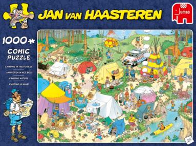 Pussel 1000 bitar Jan van Haasteren Camping in the forest 1