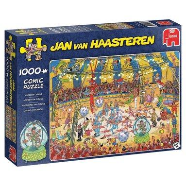 Pussel 1000 bitar Jan van Haasteren Acrobat Circus 1