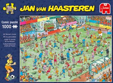 Pussel 1000 bitar Jan van Haasteren Womens Soccer 1