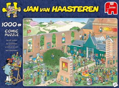 Pussel 1000 bitar Jan van Haasteren The Art Market 1