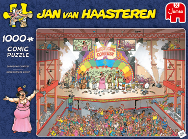 Pussel 1000 bitar Jan van Haasteren Eurosong Contest finals 1