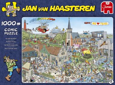 Pussel 1000 bitar Jan van Haasteren Island Retreat 1