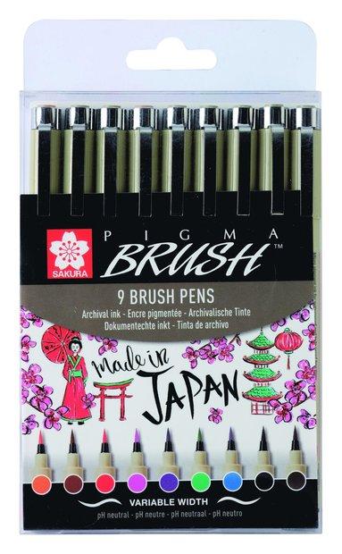 Tuschpenna Pigma Brush 9-pack 1
