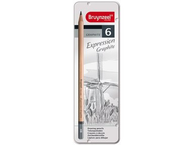 Blyertspenna grafit 6-pack 1