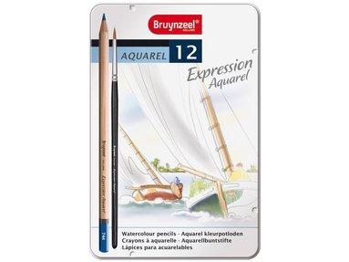 Akvarellpenna Expression 12-pack med pensel 1