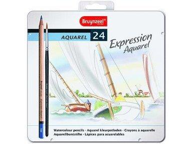Akvarellpenna Expression 24-pack med pensel 1