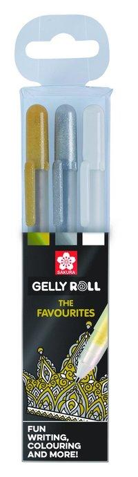 Gelpenna Gelly Roll Metallic 3-pack guld/silver/vit