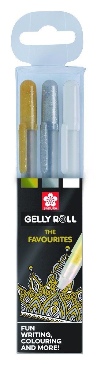 Gelpenna Gelly Roll Metallic 3-pack guld/silver/vit