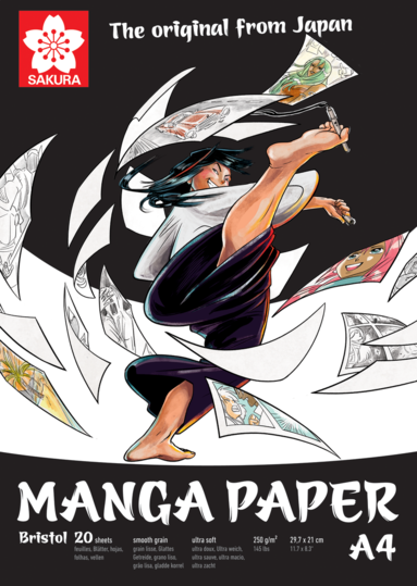 Teckningsblock A4 Sakura Manga Paper - Bristol
