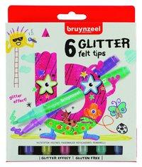 Fiberspetspenna Bruynzeel Glitter 6 färger