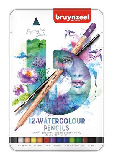 Akvarellpenna Expression 12 färger m pensel